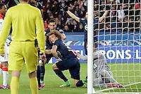 But de David LUIZ  - 04.03.2015 - PSG / Monaco - 1/4Finale Coupe de France<br />Photo : Andre Ferreira  / Icon Sport