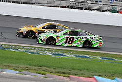 July 22, 2018 - Loudon, NH, U.S. - LOUDON, NH - JULY 22: (18) Kyle Busch and (20) Erik Jones  in turn 4 during the Monster Energy Cup Series Foxwoods Resort Casino 301 race on July, 21, 2018, at New Hampshire Motor Speedway in Loudon, NH. (Photo by Malcolm Hope/Icon Sportswire) (Credit Image: © Malcolm Hope/Icon SMI via ZUMA Press)
