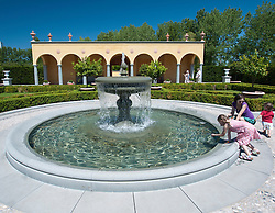 The Italian Renaissance Garden at Garten der Welt in Marzahn district of Berlin Germany