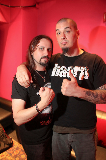 Phil Anselmo of Down backstage at The Best Buy Theater Times Square on April 29, 2011 in New York City.