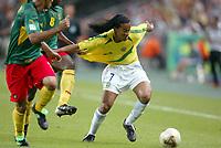FOOTBALL - CONFEDERATIONS CUP 2003 - GROUP B - 030619 - BRASIL V KAMERUN - RONALDINHO (BRA) - PHOTO STEPHANE MANTEY / DIGITALSPORT