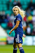Claire Emslie (#18) of Scotland during the Women's Euro Qualifiers match between Scotland Women and Cyprus Women at Easter Road, Edinburgh, Scotland on 30 August 2019.