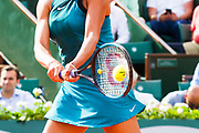 ambiance ball in the racket during the Roland Garros French Tennis Open 2018, day 12, on June 7, 2018, at the Roland Garros Stadium in Paris, France - Photo Pierre Charlier / ProSportsImages / DPPI