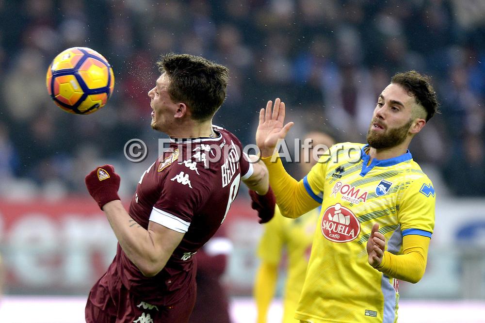 &copy; Filippo Alfero<br /> Torino-Pescara, Serie A 2016/2017<br /> Torino, 12/02/2017<br /> sport calcio<br /> Nella foto: Andrea Belotti Torino gol 5-0