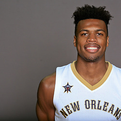 Sep 23, 2016; New Orleans, LA, USA; New Orleans Pelicans guard Buddy Heild (24) poses for a portrait during media day at the Smoothie King Center. Mandatory Credit: Derick E. Hingle-USA TODAY Sports
