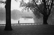 The Lake in Central Park, New York City.