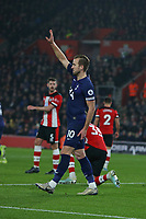 Football - 2019 / 2020 Premier League - Southampton vs. Tottenham Hotspur<br /> <br /> Harry Kane of Tottenham signals to the bench after stretching his hamstring at St Mary's Stadium Southampton<br /> <br /> COLORSPORT/SHAUN BOGGUST