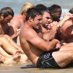 DURBAN, SOUTH AFRICA, December 10. 2015 - General views during The Cell C Sharks Pre Season Beach South Beach training for the 2016 Super Rugby Season . (Photo by Steve Haag)<br /> images for social media must have consent from Steve Haag
