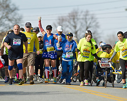 2013 Boston Marathon: mobility impaired athletes start race