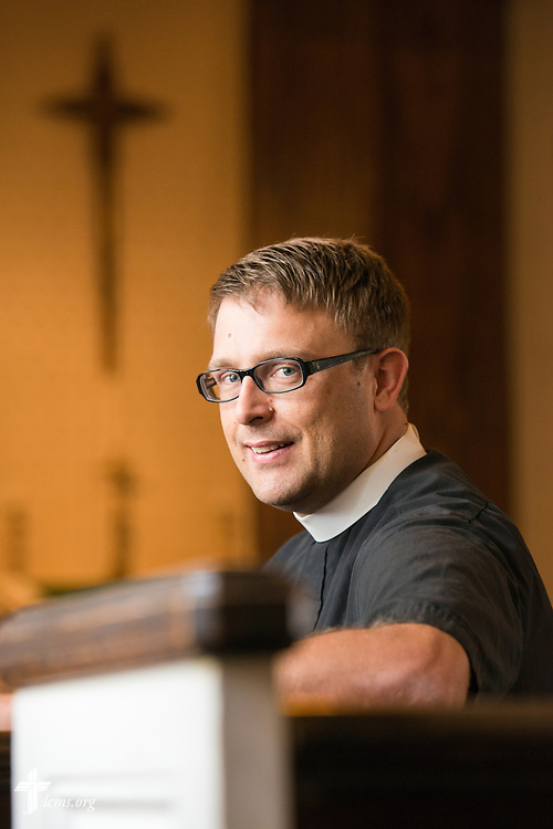 Portrait of the Rev. Adam DeGroot at Shepherd of the City Lutheran Church on Wednesday, August 13, 2014, in Philadelphia, Pa. LCMS Communications/Erik M. Lunsford