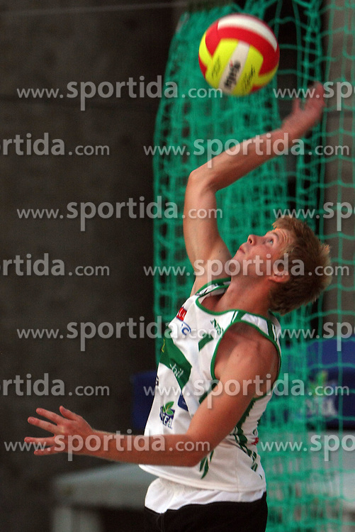 Simon Krakar (Atlantis Team) at qualifications for 14th National Championship of Slovenia in Beach Volleyball and also 4th tournament of series TUSMOBIL LG presented by Nestea, on July 25, 2008, in Kranj, Slovenija. (Photo by Vid Ponikvar / Sportal Images)/ Sportida)