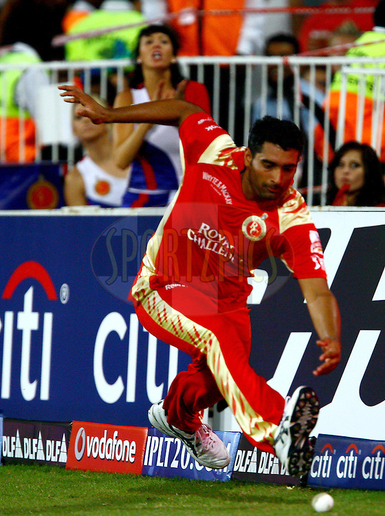 DURBAN, SOUTH AFRICA - 1 May 2009.Rajesh Bishwoi stopped this one of Singh in the nick of time during the IPL Season 2 match between Kings X1 Punjab and the Royal Challengers Bangalore held at Sahara Stadium Kingsmead, Durban, South Africa..