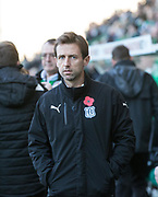 4th November 2017, Easter Road, Edinburgh, Scotland; Scottish Premiership football, Hibernian versus Dundee; Dundee manager Neil McCann