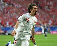 Jubel 0:3 Tomas Rosicky Tschechien<br /> USA - Tsjekkia<br /> Fussball WM 2006 USA - Tschechien<br /> Norway only<br /> Fotball VM