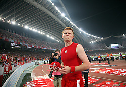Athens, Greece - Wednesday, May 23, 2007: Liverpool's John Arne Riise looks dejected after losing 2-1 to AC Milan during the UEFA Champions League Final at the OACA Spyro Louis Olympic Stadium. (Pic by David Rawcliffe/Propaganda)