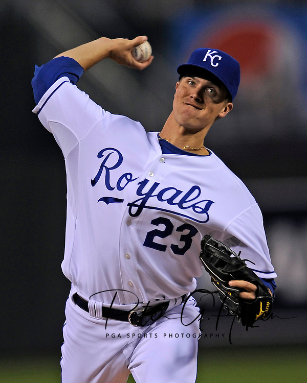September 22, 2009:  Starting pitcher Zack Greinke #23 of the Kansas City Royals picked up his 15th win of the season, pitching six shut out innings to beat the Boston Red Sox 5-1 at Kauffman Stadium in Kansas City, Missouri.  ..