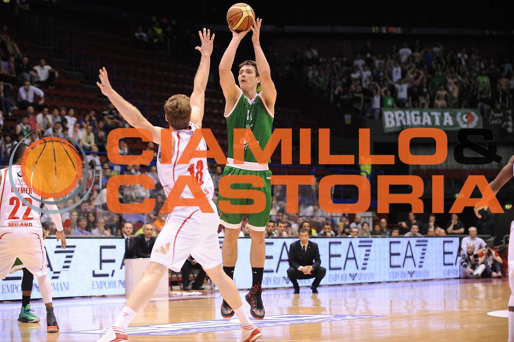 DESCRIZIONE : Milano Lega A 2012-13 Play Off Quarti di Finale Gara2 EA7 Olimpia Armani Milano Montepaschi Siena<br /> GIOCATORE : Kristjan Kangur<br /> CATEGORIA : tiro<br /> SQUADRA : EA7 Olimpia Armani Milano Montepaschi Siena<br /> EVENTO : Campionato Lega A 2012-2013 Play Off Quarti di Finale Gara2<br /> GARA : EA7 Olimpia Armani Milano Montepaschi Siena<br /> DATA : 12/05/2013<br /> SPORT : Pallacanestro<br /> AUTORE : Agenzia Ciamillo-Castoria/M.Marchi<br /> Galleria : Lega Basket A 2012-2013<br /> Fotonotizia : Milano Lega A 2012-13 EA7 Olimpia Armani Milano Montepaschi Siena<br /> Predefinita :