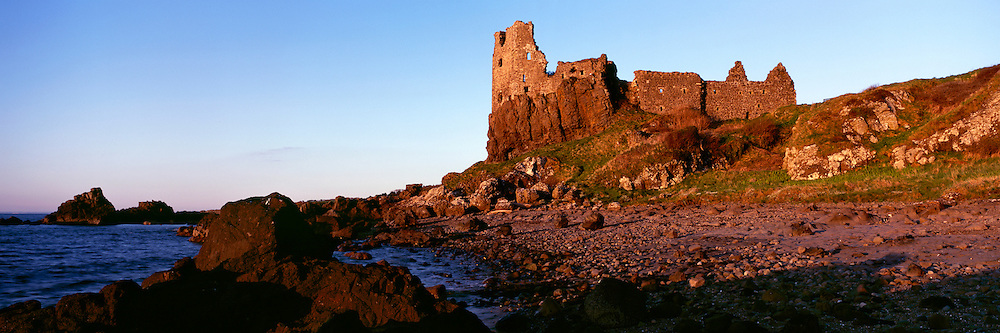 Based on the South Ayrshire coast on the West Coast of Scotland, Dunure castle is a historic fortification with a history back to the 1200's