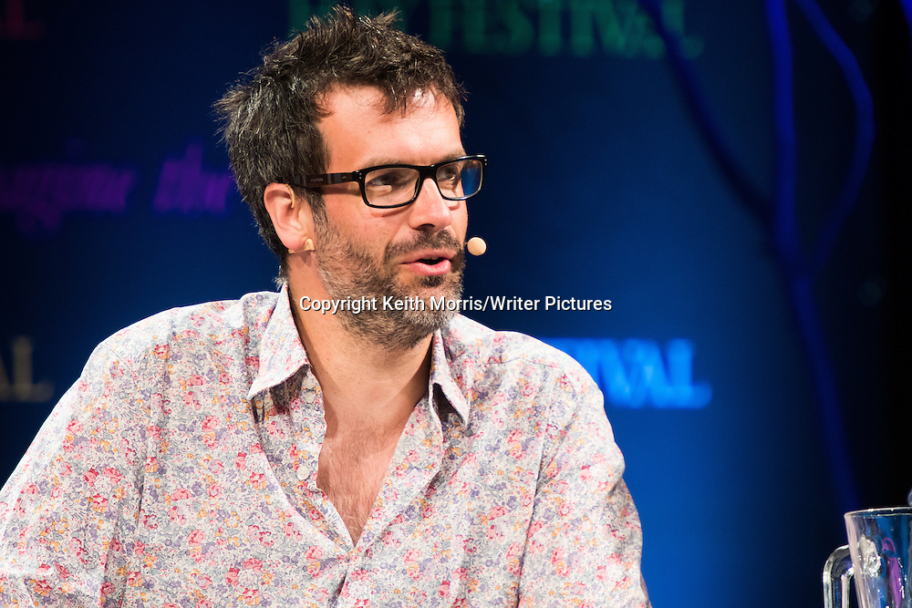 Marcus Brigstock. The Hay Festival of Literature and the Arts, Hay on Wye, Powys, Wales UK, June 01 2016<br /> <br /> Picture by Keith Morris/Writer Pictures