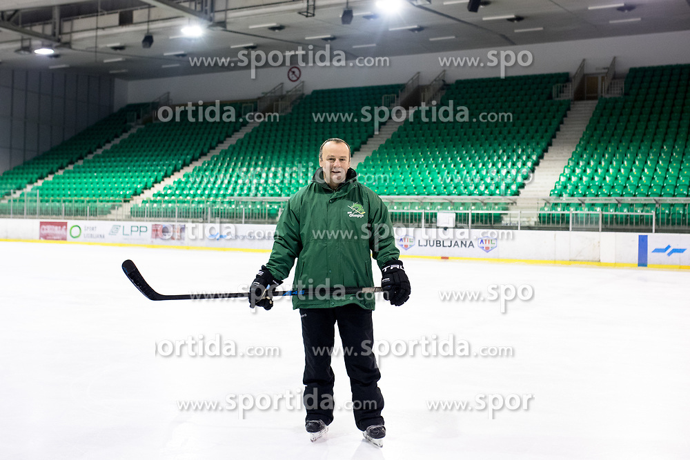 Portrait of Igor Beribak, hockey coach in HK Olimpija Ljubljana, on January 25, 2018 in Hala Tivoli, Ljubljana, Slovenia. Photo by Matic Klansek Velej / Sportida