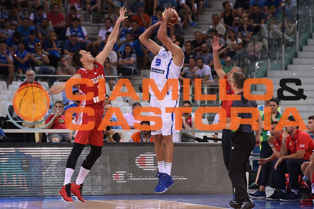 DESCRIZIONE: Torino FIBA Olympic Qualifying Tournament GREECE GRECIA-CROATIA CROAZIA<br /> GIOCATORE: Bourousis Ioannis<br /> CATEGORIA: Nazionale Italiana Italia Maschile Senior<br /> GARA: FIBA Olympic Qualifying GREECE GRECIA-CROATIA CROAZIA<br /> DATA: 08/07/2016<br /> AUTORE: Agenzia Ciamillo-Castoria