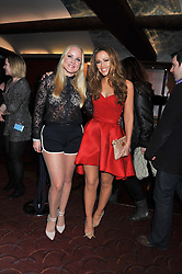 Left to right, KERRY ELLIS and KIMBERLEY WALSH at the What's On Stage Awards 2012 held at the Prince of wales Theatre, London on 19th February 2012.
