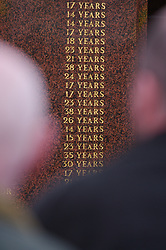 LIVERPOOL, ENGLAND - Saturday, January 26, 2008: Liverpool supporters stop to read the ages of the victims of the Hillsborough Disaster on a memorial outside Liverpool FC's Anfield Stadium. 96 supporters lost their lives in Britain's worst ever sporting disaster. (Photo by David Rawcliffe/Propaganda)