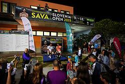Aljaz Bedene of Slovenia and Gasper Bolhar at players corner after semifinal match at Day 9 of ATP Challenger Zavarovalnica Sava Slovenia Open 2019, on August 17, 2019 in Sports centre, Portoroz/Portorose, Slovenia. Photo by Matic Klansek Velej / Sportida