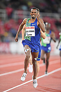 Ayanleh Souleiman (DJI) places second in the 1,500m in 3:37.30 during the Bauhaus-Galan in a IAAF Diamond League meet at Stockholm Stadium in Stockholm, Sweden on Thursday, May 30, 2019. (Jiro Mochizuki/Image of Sport)