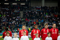 Supporters during football match between National Teams of Slovenia and Norway in Final Tournament of UEFA Nations League 2019, on November 16, 2018 in SRC Stozice, Ljubljana, Slovenia. Photo by Urban Urbanc / Sportida