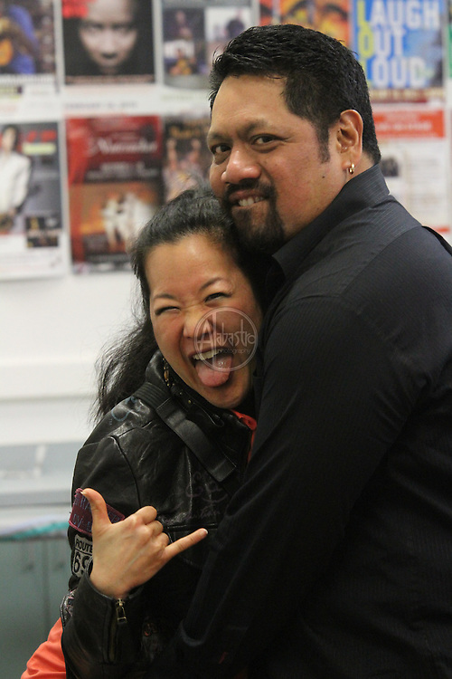 Nathan Aweau & Amy Hanaiali'i at Edmonds Center for the Arts, May 2013 in Edmonds, WA.
