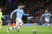 Manchester City midfielder David Silva (21) runs in on goal during the Champions League match between Manchester City and Dinamo Zagreb at the Etihad Stadium, Manchester, England on 1 October 2019.