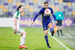 Klinar of NK Olimpija Ljubljana and Damjan Bohar of NK Maribor during football match between NK Maribor and NK Olimpija Ljubljana in 2nd leg match in Quaterfinal of Slovenian cup 2017/2018, on November 29, 2017 in Ljudski vrt, Maribor, Slovenia. Photo by Ziga Zupan / Sportida