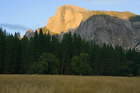 Half Dome at sunset in Yosemite National Park California USA.