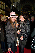 SUE RAHMANI; KLAUDYNA RZAD, Patsy Kensit turns on Burlington Arcade Christmas Lights, Burlington Arcade, London, W1. 26 November 2008 *** Local Caption *** -DO NOT ARCHIVE -Copyright Photograph by Dafydd Jones. 248 Clapham Rd. London SW9 0PZ. Tel 0207 820 0771. www.dafjones.com