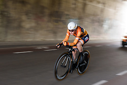 Anna van der Breggen at Boels Rental Ladies Tour Stage 3 a 16.9 km individual time trial in Roosendaal, Netherlands on August 31, 2017. (Photo by Sean Robinson/Velofocus)