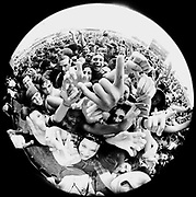 Fish eye festival crowd W. Australia 1990's