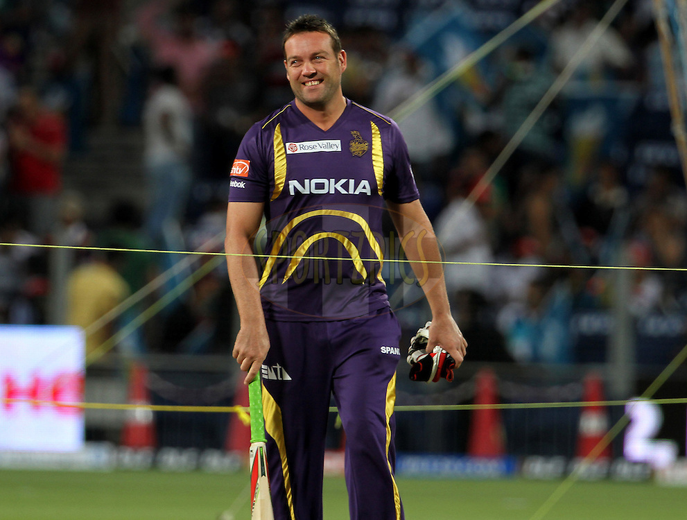 Kolkatta Knight Riders player Jacques Kallis before the match 70 of the Indian Premier League ( IPL) 2012  between The Pune Warriors India and the Kolkata Knight Riders held at the Subrata Roy Sahara Stadium, Pune on the 19th May 2012..Photo by Vipin Pawar/IPL/SPORTZPICS