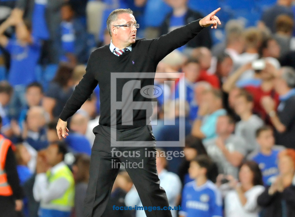 Picture by Alan Stanford/Focus Images Ltd +44 7915 056117<br /> 21/08/2013<br /> Manager Paul Lambert of Aston Villa during the Barclays Premier League match at Stamford Bridge, London.