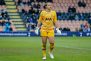 Tottenham Hotspur Women goalkeeper Becky Spencer (22) during the FA Women's Super League match between Tottenham Hotspur Women and Manchester City Women at the Hive, Barnet, United Kingdom on 5 January 2020.
