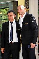 Stephane RUFFIER / Christophe GALTIER  - 17.05.2015 - Ceremonie des Trophees UNFP 2015<br /> Photo : Nolwenn Le Gouic / Icon Sport