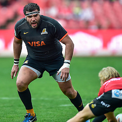 Johannesburg, SOUTH AFRICA, 21, MAY 2016 - during the Super Rugby match between Emirates Lions vs Jaguares ,Emirates Airlines Park,Johannesburg.<br /> Santiago García Botta of the Jaguares. <br /> <br /> South Africa. (Photographer Christiaan Kotze ) -- (Steve Haag Sports) <br /> <br /> Images for social media must have consent from Steve Haag