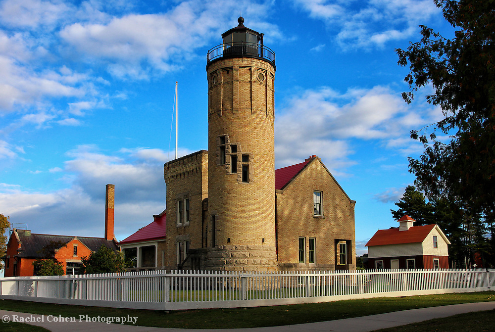 &quot;Light the Way&quot;<br /> <br /> The Old Mackinac Point Lighthouse in Mackinaw City Michigan.<br /> <br /> Lighthouses of the Great lakes by Rachel Cohen