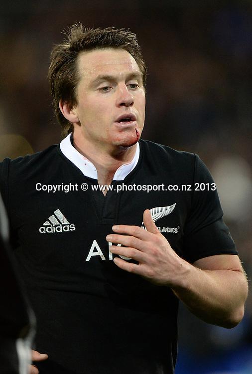 Ben Smith. New Zealand All Blacks v Australian Wallabies, Rugby Championship test match. Westpac Stadium, Wellington, New Zealand. Saturday 24 August 2013. Photo: Andrew Cornaga/www.Photosport.co.nz