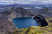 Bláhylur lake in Landmannalaugar