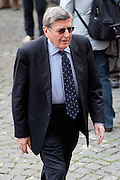 2013/05/07 Roma, funerali di Giulio Andreotti. Nella foto Vincenzo Scotti..Rome, funerals of Giulio Andreotti. In the picture Vincenzo Scotti - © PIERPAOLO SCAVUZZO