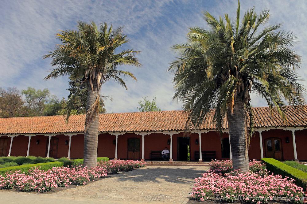 South America, Chile, Santiago. Santa Rita Winery.