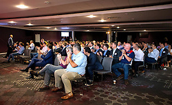 The audience applaud Kriss Akabusi after his talk at the Bristol Sport Big Breakfast - Mandatory by-line: Robbie Stephenson/JMP - 29/07/2016 - FOOTBALL - Ashton Gate - Bristol, England - Bristol Sport Big Breakfast - Kriss Akabusi