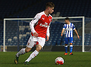 Arsenal midfielder Ben Sheaf during the Barclays U21 Premier League match between Brighton U21 and Arsenal U21 at the American Express Community Stadium, Brighton and Hove, England on 30 November 2015. Photo by Bennett Dean.