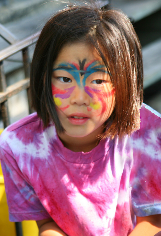 Face painting.